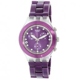 swatch irony svck4048 full-blooded blueberry unisex