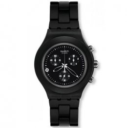 swatch irony svcf40000ag full-blooded smoky black unisex