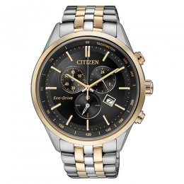 eco-drive stainless steel men watch