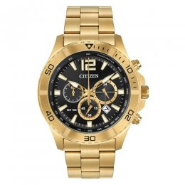 men`s gold stainless-steel watch