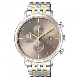 men`s stainless steel analog watch
