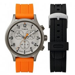 timex twg018000 allied chronograph 42mm gift set with extra starp